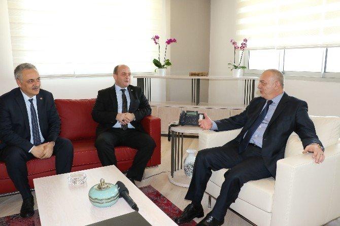 Gürcan Ve Öz'den Başkan Ergün'e Ziyaret