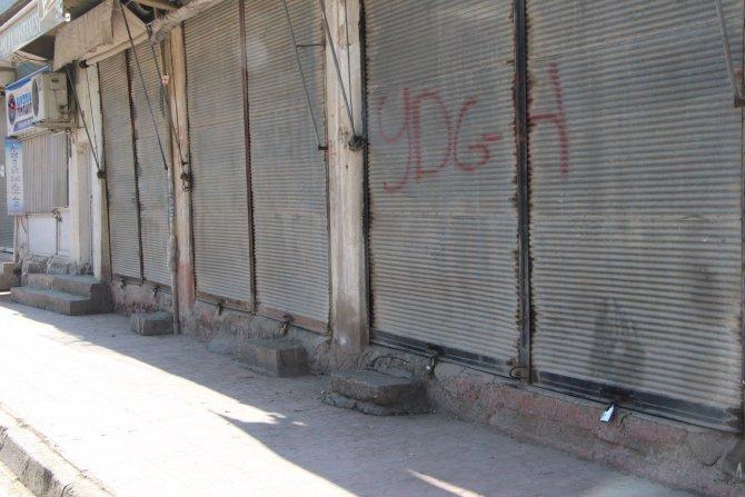 Nusaybin'de esnaf kepenk açmadı