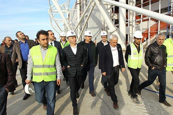 Trabzonspor Yönetimi Akyazı'da İncelemelerde Bulundu
