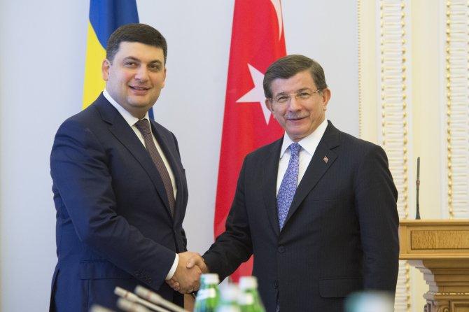 Davutoğlu, Ukrayna Parlamentosu Başkanı Groysman ile görüştü