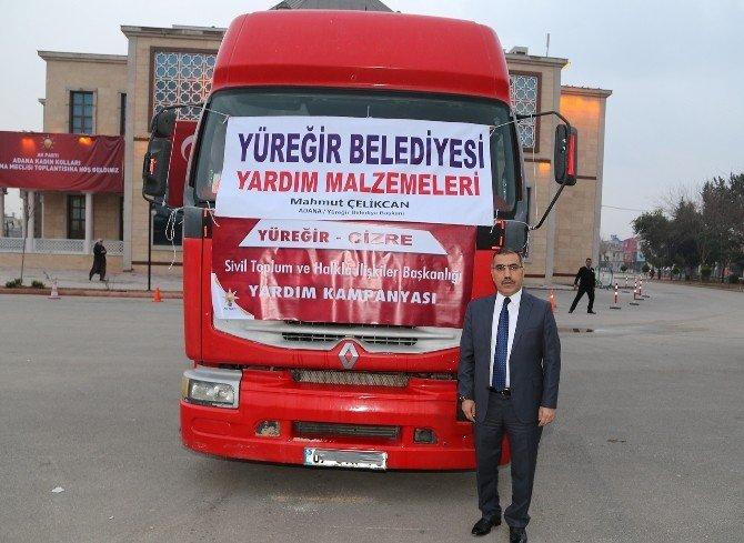 Yüreğir Belediyesi'nden Cizre'ye Bir Tır Dolusu Yardım