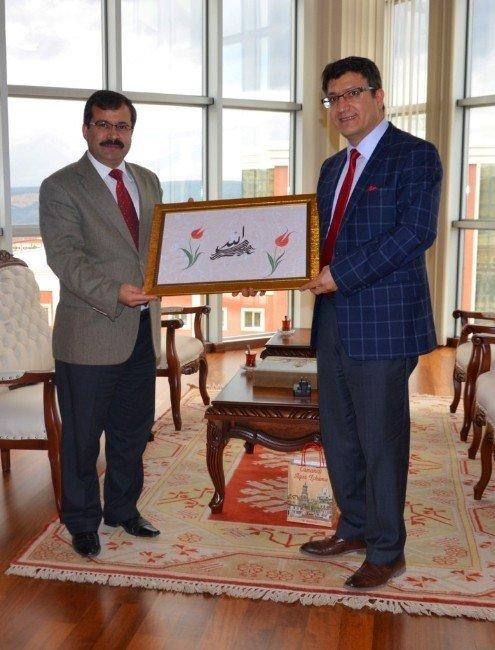 Bilecik M Tipi Kapalı Ve Açık Ceza İnfaz Kurumu Müdürü Şen'den Rektör Taş'a Ziyaret