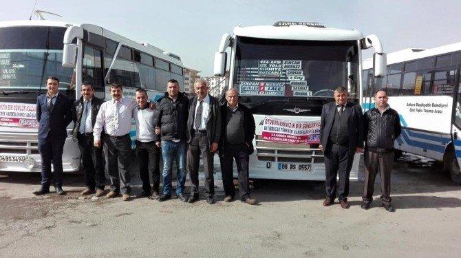 Ankara'da Minibüs Ve Otobüsçülerden Bayırbucak Türkmenleri'ne Yardım