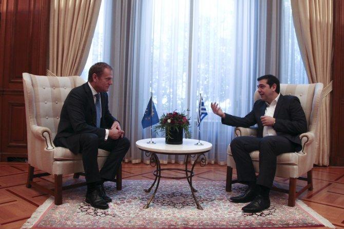 Çipras, Avrupa Konseyi Başkanı Tusk ile görüştü