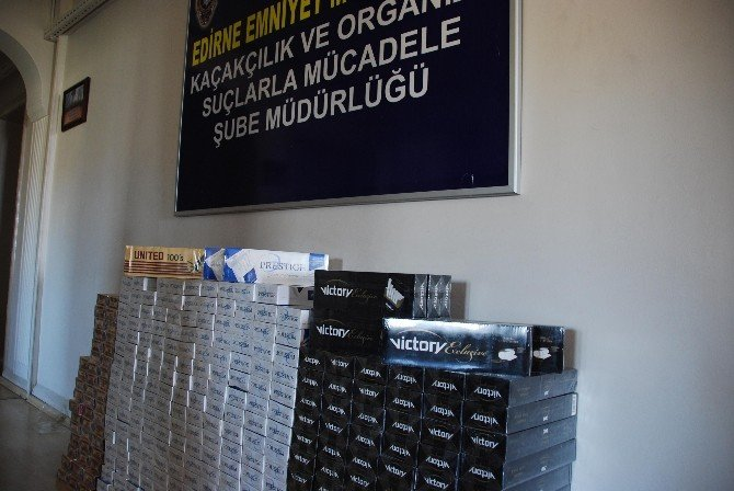 Edirne'de Kaçak Sigara Operasyonu