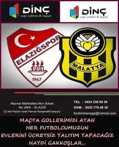 Elazığspor'da esnaftan gol atacak futbolculara özel ödül sözü