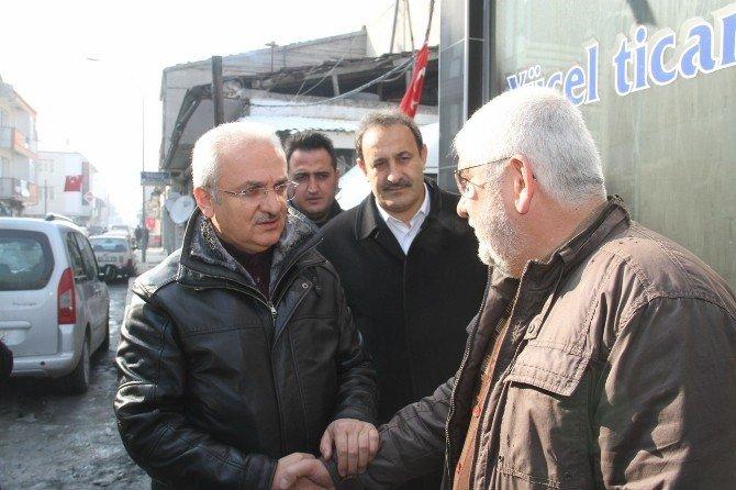 Başkan Başsoy'dan Merkez Çarşısı Esnafına Ziyaret