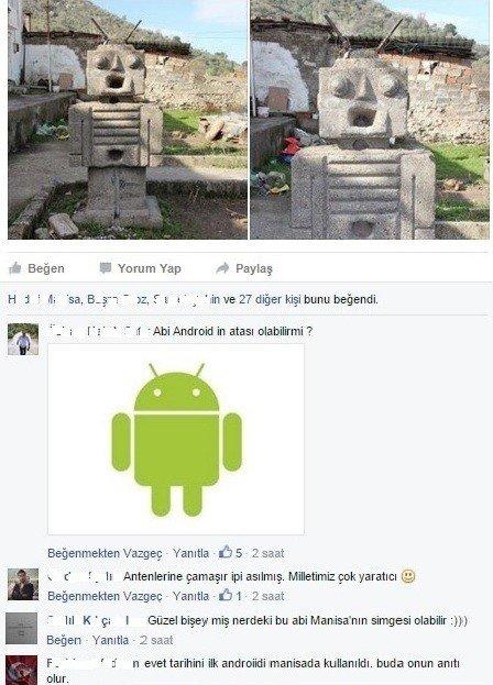 Android Logosunun Atasına Çamaşır Astılar