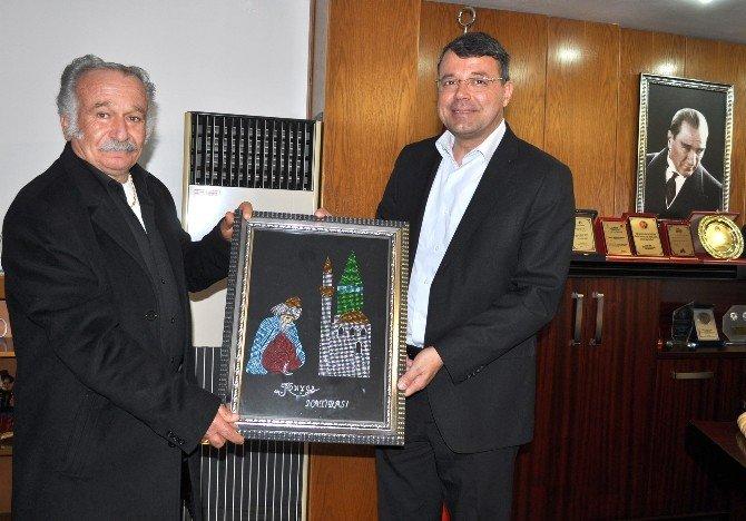 Huzurevi Müdürü Erten'den Başkan Turgut'a Ziyaret