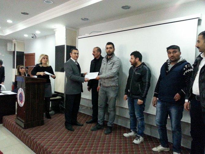 KOSGEB girişimcilik sertifikaları verildi