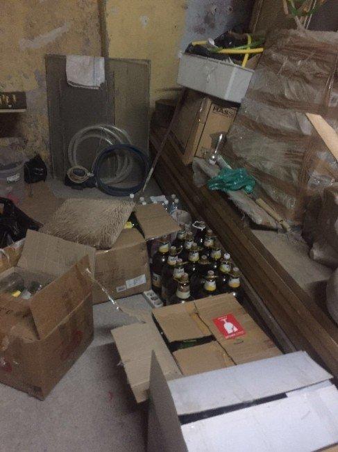 Trabzon'da Kaçak İçki İmalathanesi'ne Baskın