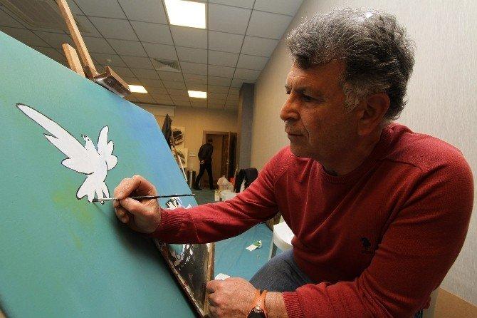 9 Ülkeden 15 Sanatçı Gaziemir'de