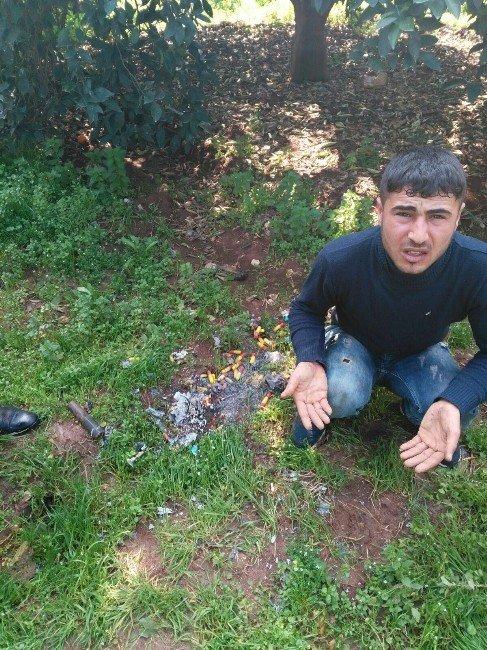 Patlayıcı Madde Hazırlayan Zanlı Ağaç Üzerinde Yakalandı