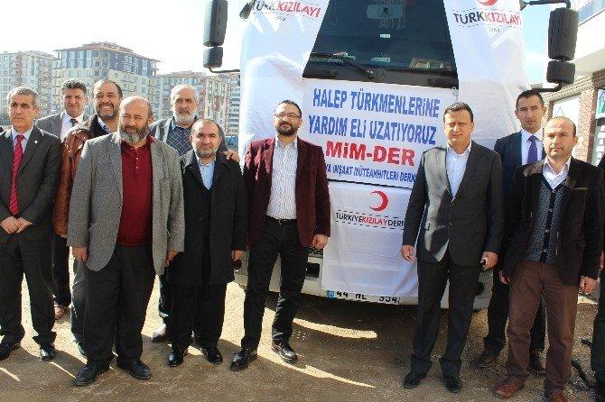 Mimder'den Halep Türkmenlerine Yardım