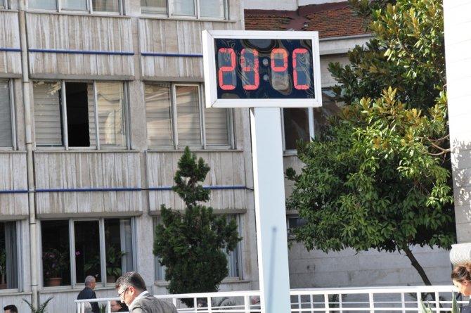 Samsun'da 61 yıl sonra gelen rekor sıcaklık