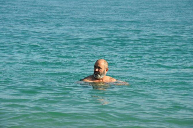 Şubat'ta deniz keyfi