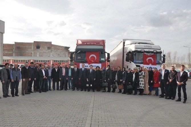 İnegöl AK Parti'den Bayırbucak'a İki Tır Yardım