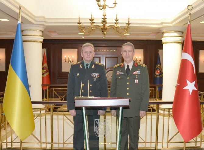 Ukranya Genelkurmay Başkanı, Genelkurmay Başkanı Akar'ı ziyaret etti