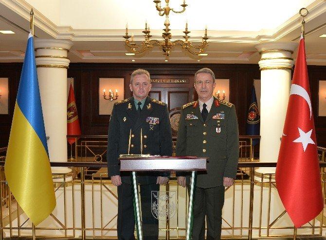 Ukrayna Genelkurmay Başkanı Mezhenko, Orgeneral Akar'ı Ziyaret Etti