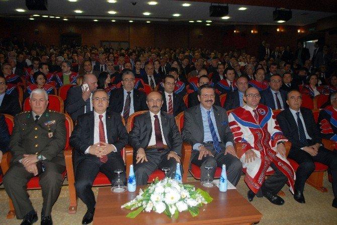 TOBB Başkanı Hisarcıklıoğlu'na MAKÜ'den Fahri Doktora Payesi