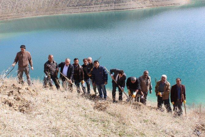 Samsat Belediyesi Ağaçlandırma Çalışmalarına Devam Ediyor