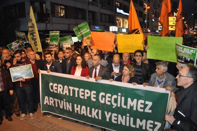 İzmir'de Cerattepe destek eylemi