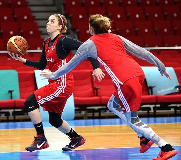 Basketbol Kadın Milli Takımı çalışmalarını sürdürüyor