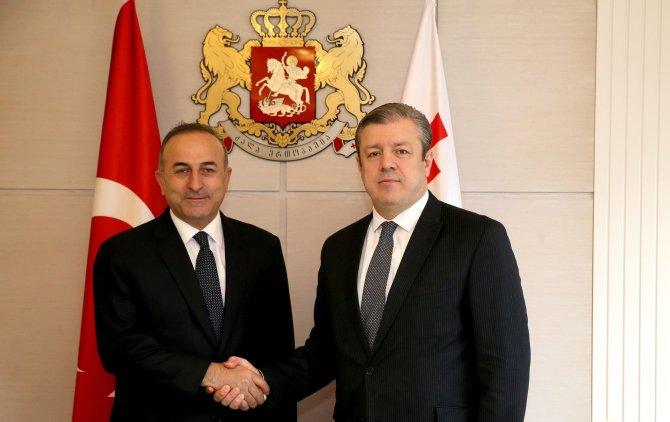 Gürcistan Başbakanı Kvirikashvili, Çavuşoğlu'nu kabul etti