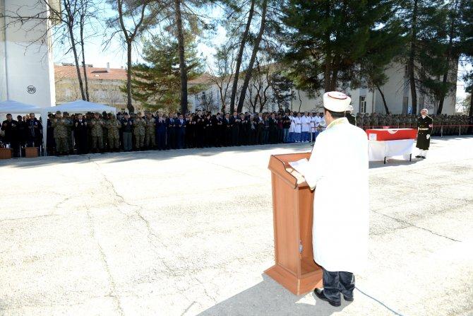 Sur'da şehit olan astsubay Dinç için uğurlama töreni düzenlendi