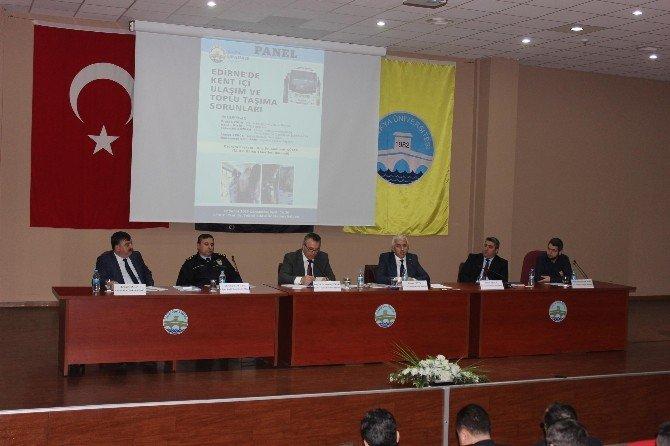 Edirne'de Kent İçi Ulaşım Ve Toplu Taşıma Sorunları Masaya Yatırıldı