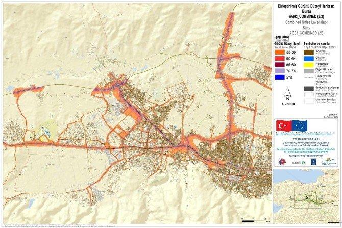 Bursa'nın Gürültü Haritası Çıkarıldı