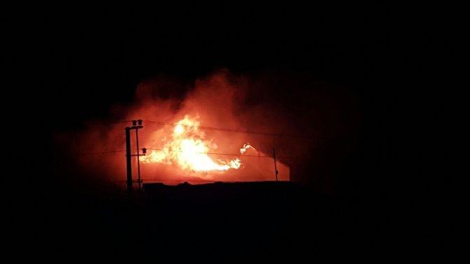 Nusaybin'de bir okul patlamanın ardından alevlere teslim oldu