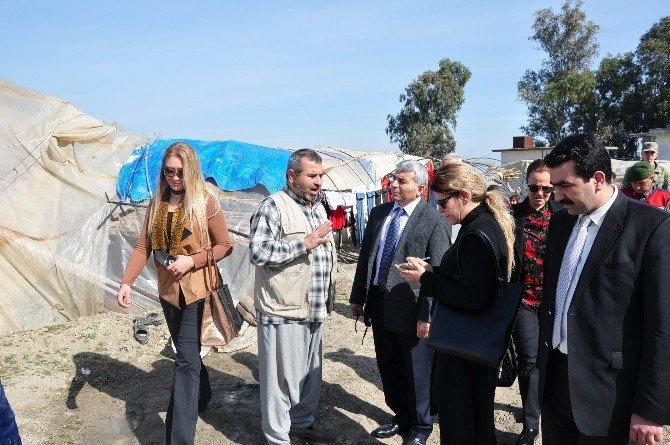 Kaymakam Atmaca, Sığınmacıların Sorunlarını Yerinde İnceledi