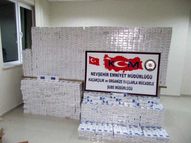 Nevşehir'de kaçak sigaradan iki tutuklama