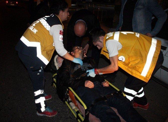 Direksiyon Başında Kriz Geçirince Kaza Yaptı