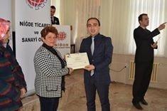 Ulukışla'da Girişimcilik Kursu Sertifika Töreni Yapıldı