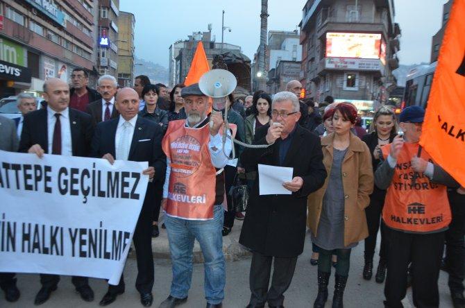 Zonguldak'tan Cerattepe desteği