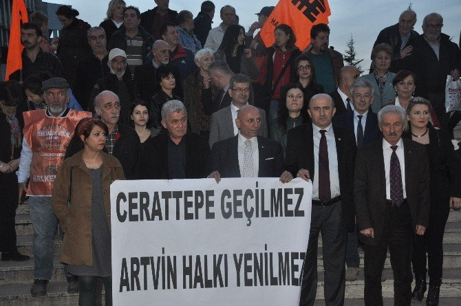 """Demokrasi Platformundan """"Cerattepe""""ye Destek"""