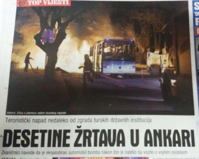 Terör saldırısı Bosna ve Sırbistan medyasında