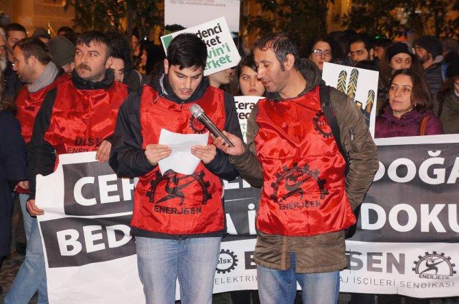 Beyoğlu'nda Cerattepe'ye destek eylemi