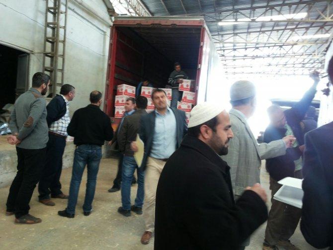 Diyanet, Nusaybin'deki muhtaç ailelere gıda yardımı yaptı