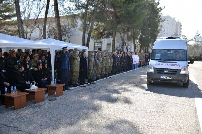 Diyarbakır'da şehit astsubay Seçkin Çil için uğurlama töreni