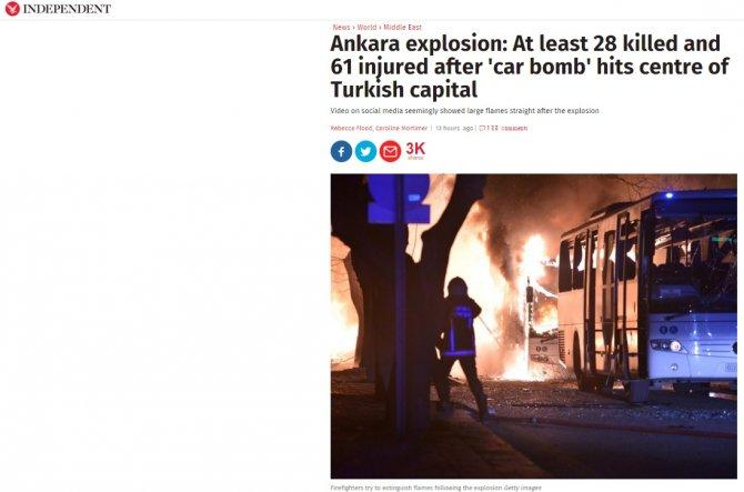 İngiliz basını, Ankara saldırısını yakından takip ediyor