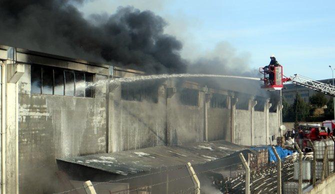Sünger fabrikasında yangın