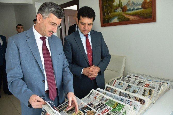 Vali Bektaş'tan BİK Müdürü Tokgöz'e Taziye Ziyareti