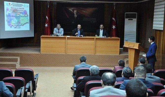 Muş'ta 'İl Su Yönetimi Koordinasyon Kurulu' Toplantısı