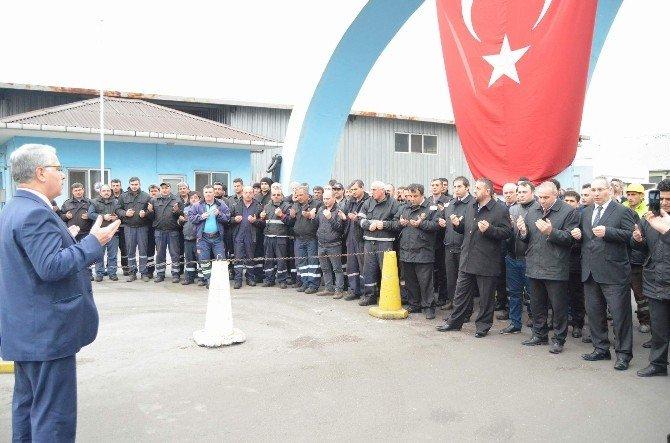Ankara Ve Diyarbakır'daki Terör Saldırılarına Trabzon'da Liman Çalışanlarından Tepki