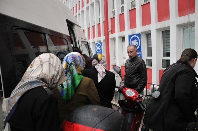 Samsun'da gözaltına alınanlar hastaneye götürüldü