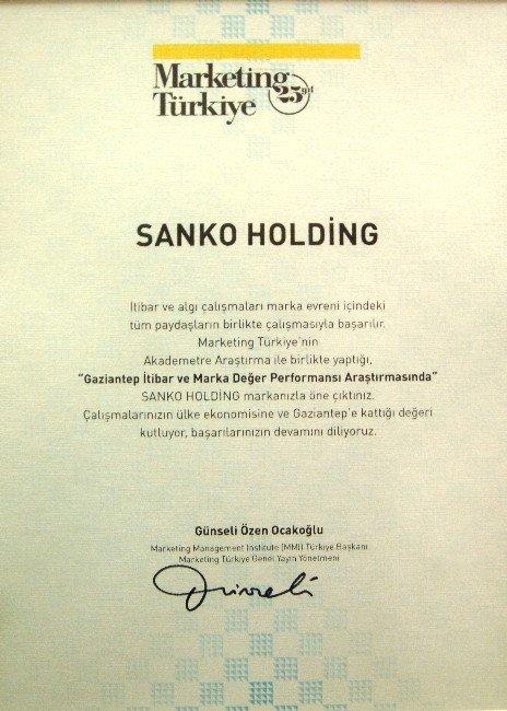 Sanko Holding'e Bir Ödül De Marketing Türkiye'den