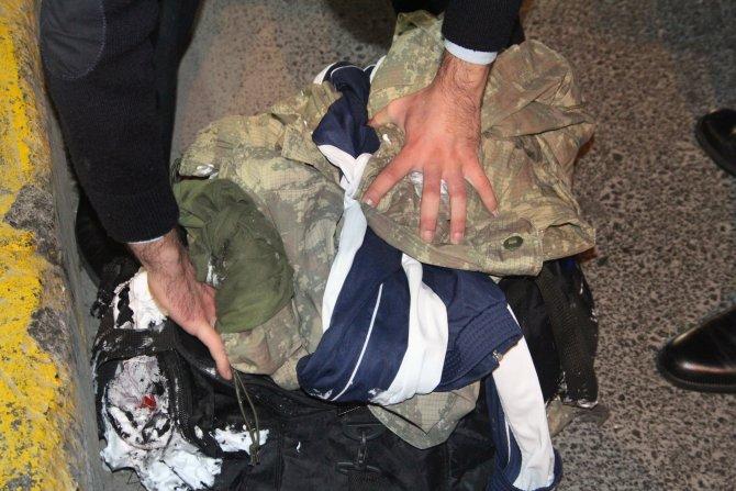 Şişli'de fünyeyle patlatılan çantadan askeri üniforma çıktı